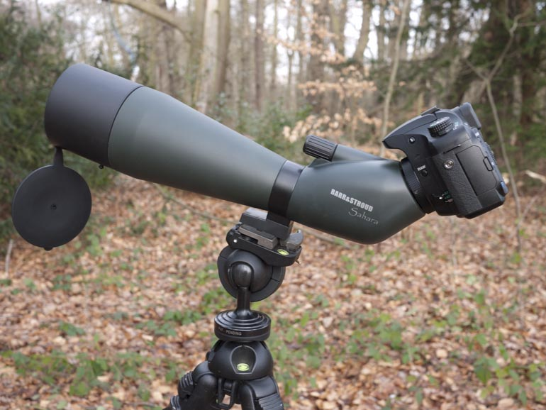 camera on spotting scope